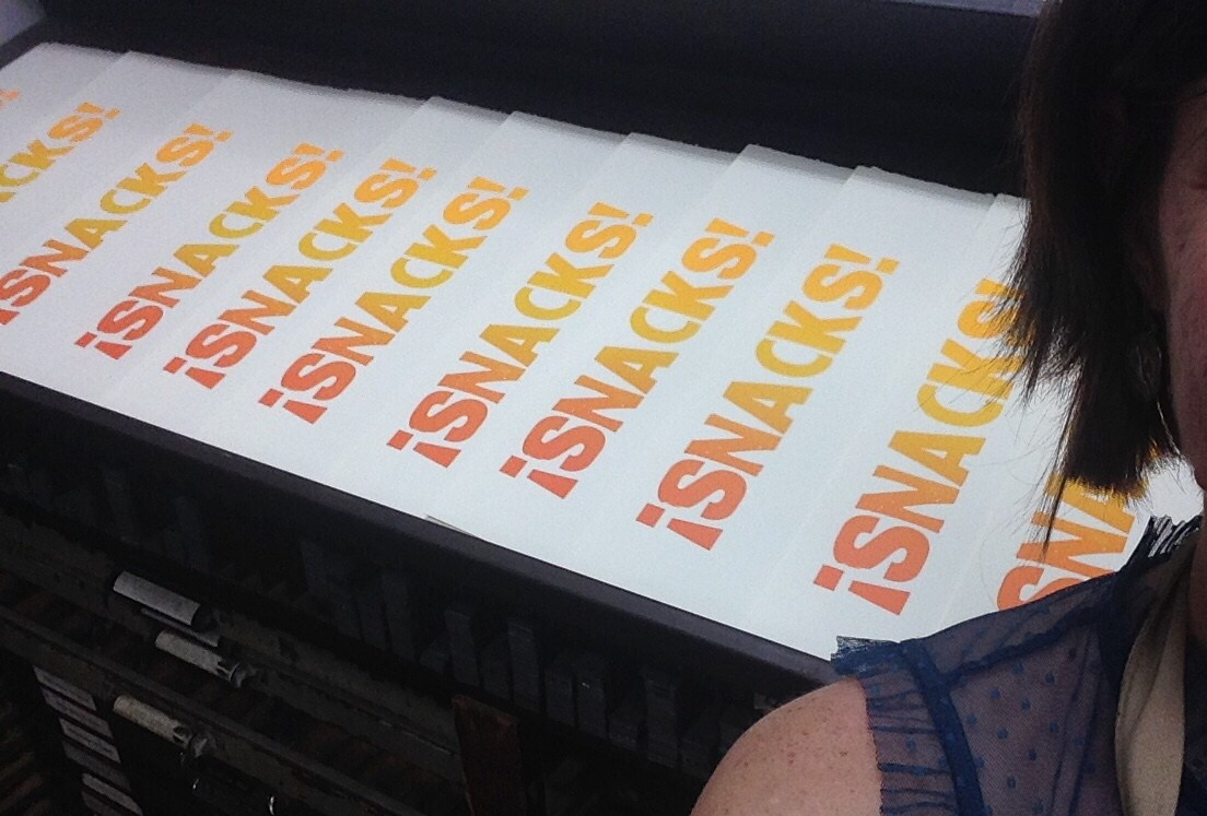 letterpress snacks prints